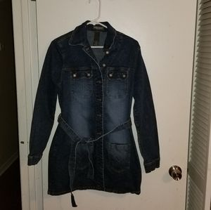 Bisou bisou Jean jacket dress size 8 (m9)